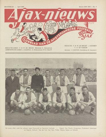 Clubnieuws Ajax (vanaf 1916) 1959-04-01