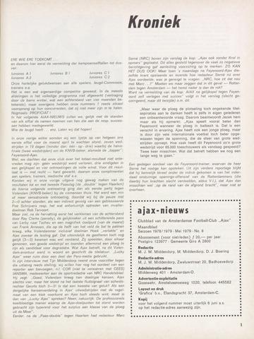Clubnieuws Ajax (vanaf 1916) 1979-05-01