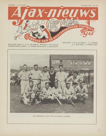 Clubnieuws Ajax (vanaf 1916) 1947-11-01