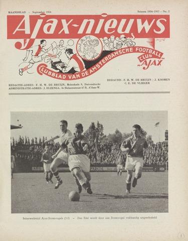 Clubnieuws Ajax (vanaf 1916) 1956-09-01