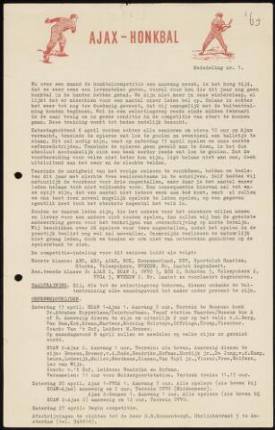 Honkbal nieuws (1963-1972) 1963-04-27