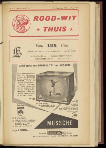 Programmaboekjes (vanaf 1934) 1958-09-21