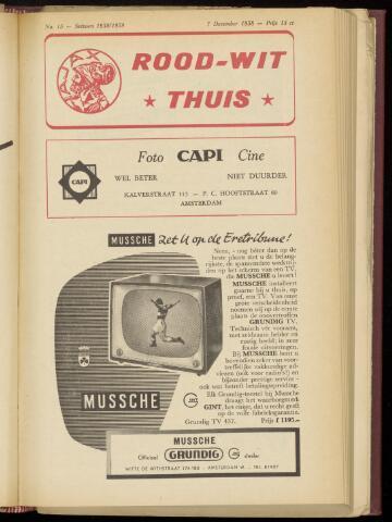 Programmaboekjes (vanaf 1934) 1958-12-07