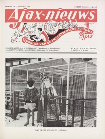 Clubnieuws Ajax (vanaf 1916) 1965-11-01