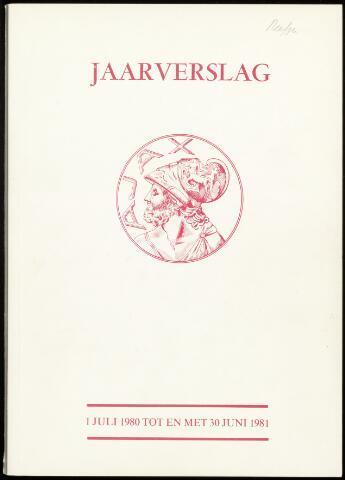 Jaarverslagen Vereniging (vanaf 1964) 1981-06-30