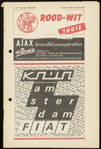 Programmaboekjes (vanaf 1934) 1970-03-11