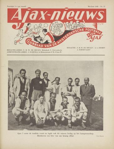 Clubnieuws Ajax (vanaf 1916) 1949-05-01