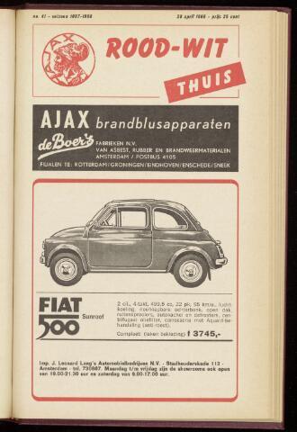 Programmaboekjes (vanaf 1934) 1968-04-28