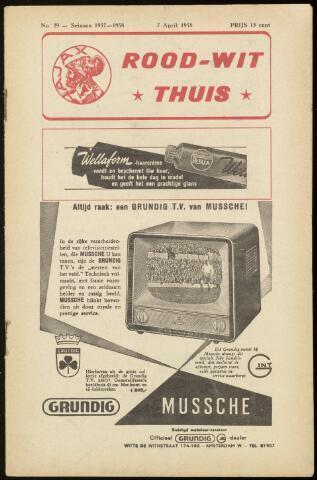 Programmaboekjes (vanaf 1934) 1958-04-07