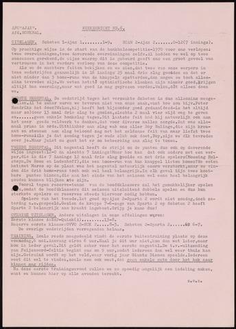 Honkbal nieuws (1963-1972) 1970-05-04