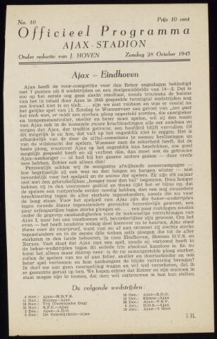 Programmaboekjes (vanaf 1934) 1945-10-28