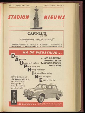 Programmaboekjes (vanaf 1934) 1961-11-02