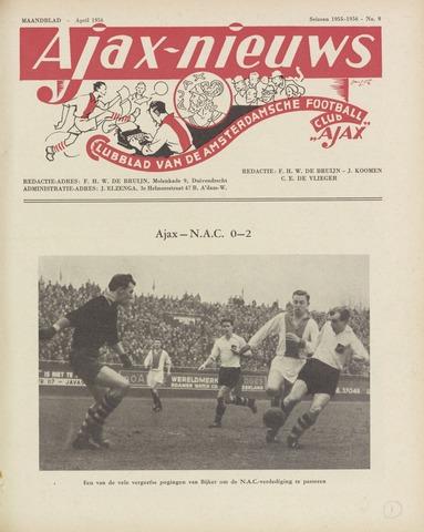 Clubnieuws Ajax (vanaf 1916) 1956-04-01