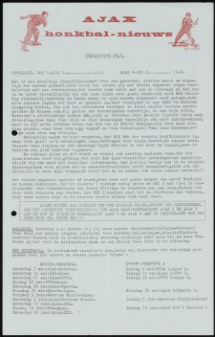 Honkbal nieuws (1963-1972) 1966-05-03