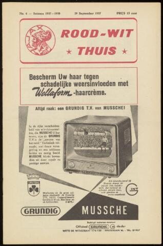Programmaboekjes (vanaf 1934) 1957-09-29