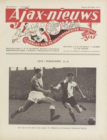 Clubnieuws Ajax (vanaf 1916) 1957-10-01