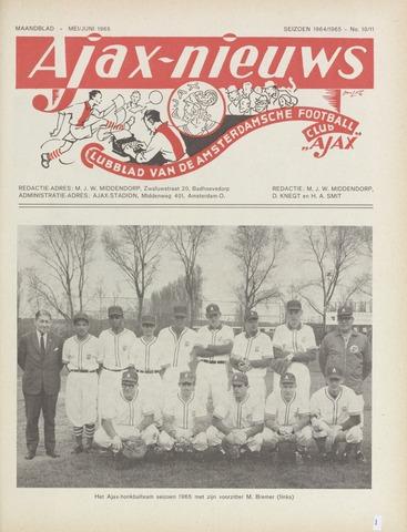 Clubnieuws Ajax (vanaf 1916) 1965-05-01