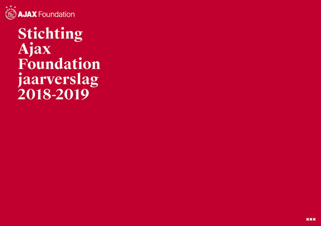 Ajax Foundation (vanaf 2018) 2019-06-30