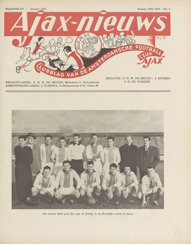 Clubnieuws Ajax (vanaf 1916) 1956-01-01