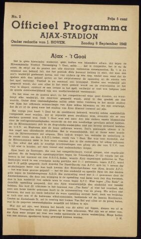 Programmaboekjes (vanaf 1934) 1942-09-06