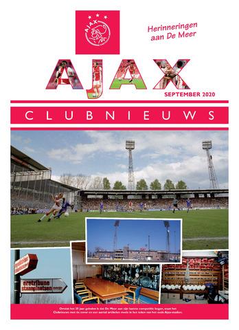 Clubnieuws Ajax (vanaf 1916) 2020-09-01