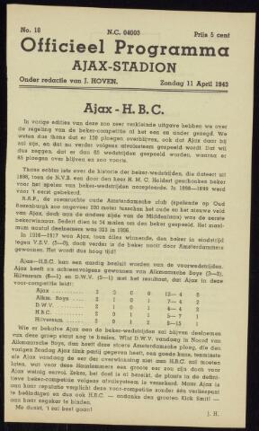 Programmaboekjes (vanaf 1934) 1943-04-11