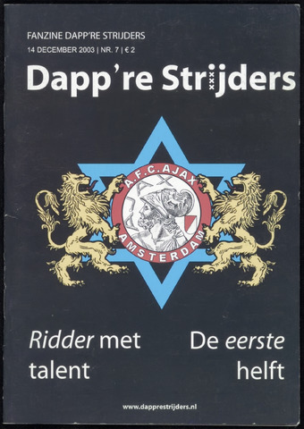 Fanzine Dapp're Strijders (2003-2005) 2003-12-14
