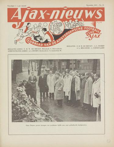 Clubnieuws Ajax (vanaf 1916) 1947-12-01