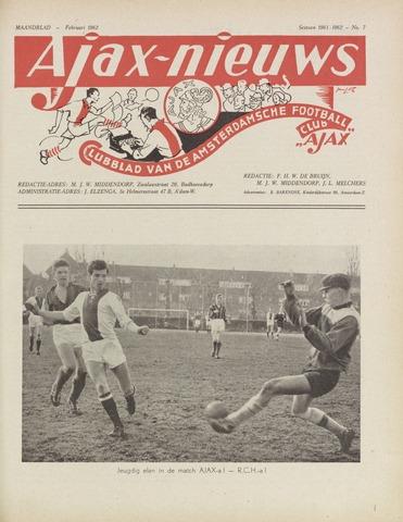 Clubnieuws Ajax (vanaf 1916) 1962-02-01