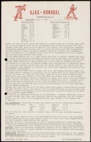 Honkbal nieuws (1963-1972) 1963-07-29