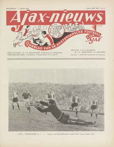 Clubnieuws Ajax (vanaf 1916) 1961