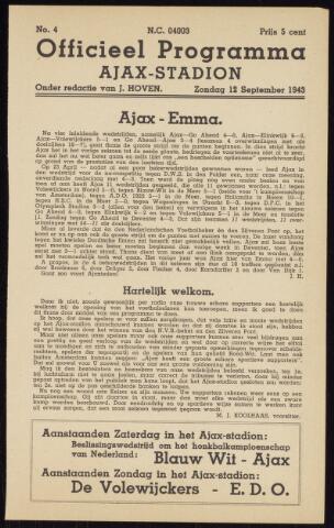 Programmaboekjes (vanaf 1934) 1943-09-12