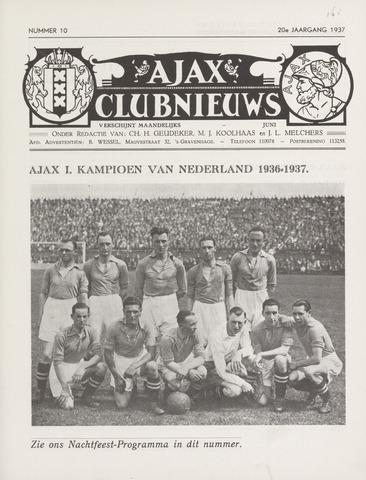Clubnieuws Ajax (vanaf 1916) 1937-06-01