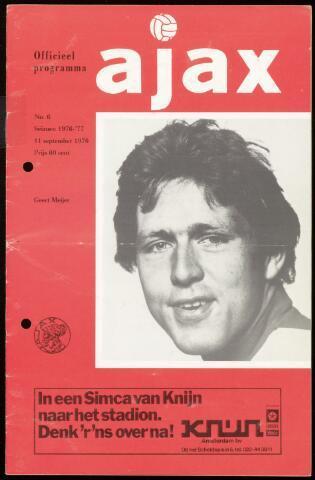 Programmaboekjes (vanaf 1934) 1976-09-11