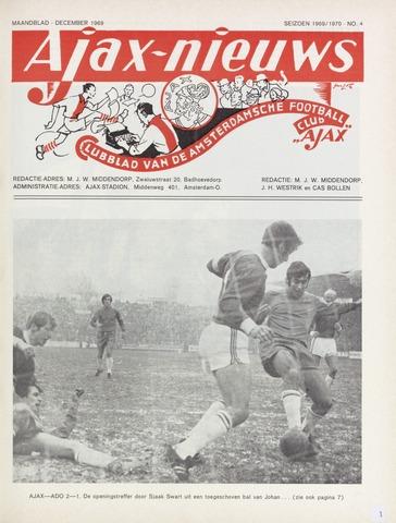 Clubnieuws Ajax (vanaf 1916) 1969-12-01