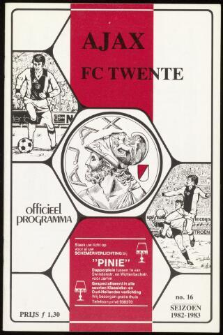 Programmaboekjes (vanaf 1934) 1983-03-20