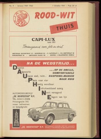Programmaboekjes (vanaf 1934) 1961-10-01