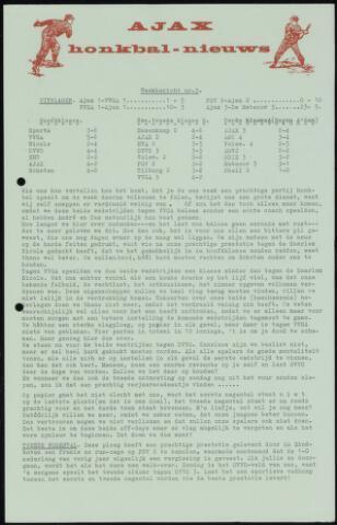 Honkbal nieuws (1963-1972) 1964-05-19