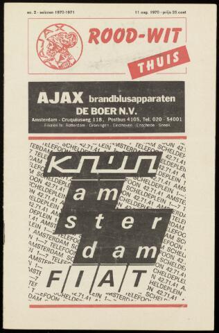 Programmaboekjes (vanaf 1934) 1970-08-11
