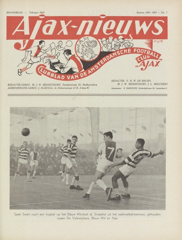Clubnieuws Ajax (vanaf 1916) 1963