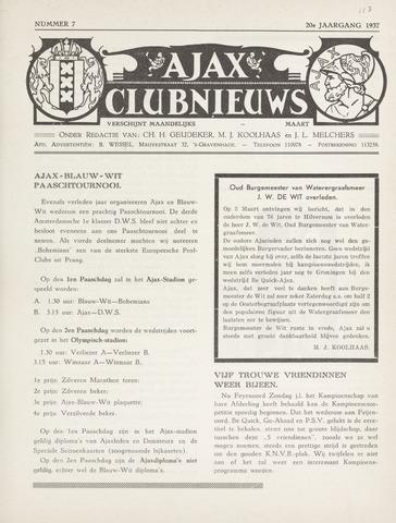 Clubnieuws Ajax (vanaf 1916) 1937-03-01
