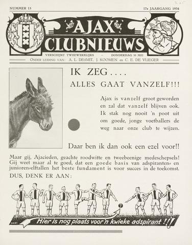Clubnieuws Ajax (vanaf 1916) 1933-05-10