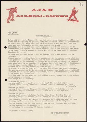 Honkbal nieuws (1963-1972) 1966-01-07