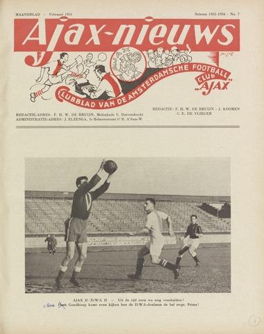 Clubnieuws Ajax (vanaf 1916) 1956-02-01
