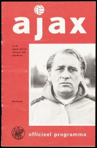 Programmaboekjes (vanaf 1934) 1975-01-19