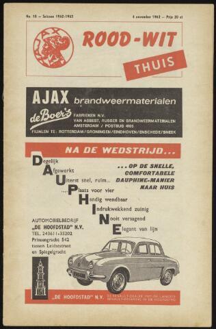Programmaboekjes (vanaf 1934) 1962-11-04