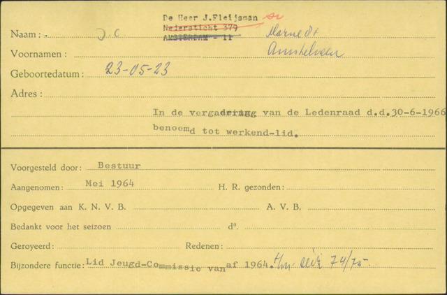 Ledenkaarten (1911-1989) 1964