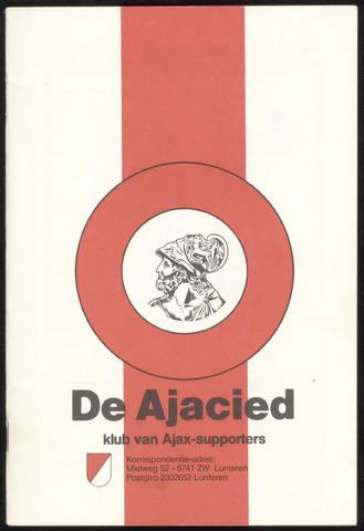 Clubblad De Ajacied (1997-2009) 1980-11-01