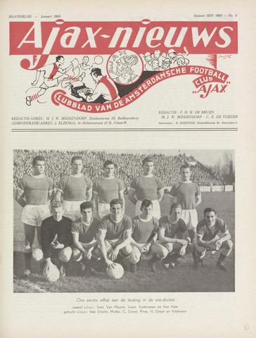 Clubnieuws Ajax (vanaf 1916) 1960