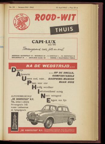 Programmaboekjes (vanaf 1934) 1962-04-15